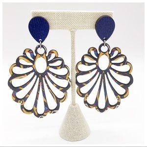 Jewelry - NEW LASER CUT BRAZILIAN WOOD EARRINGS